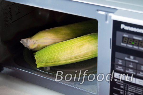 как варить кукурузу в микроволновке