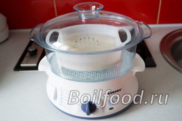 как варить длинный рис в пароварке