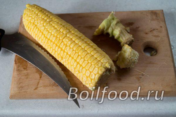 очистить кукурузу