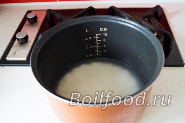 рис в чаше мультиварки