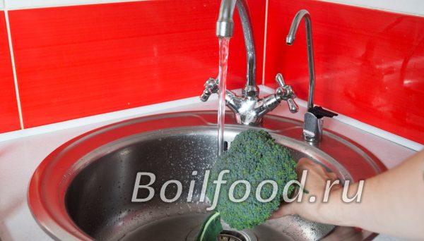 промываем брокколи