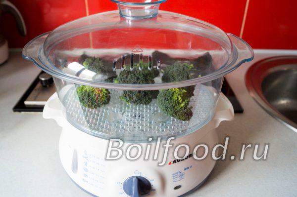 как варить брокколи в пароварке