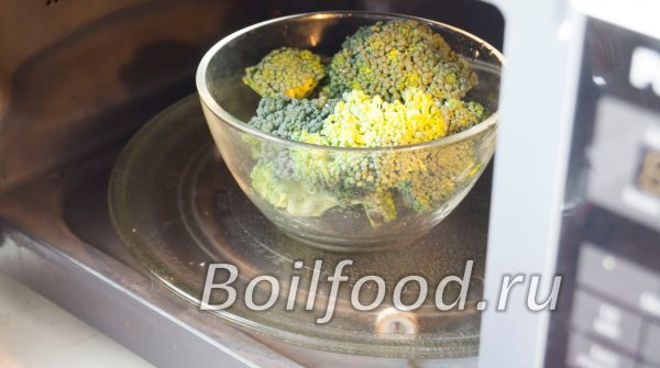 как варить брокколи в микроволновке
