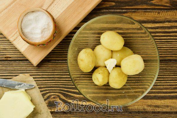 добавить масло в картошку