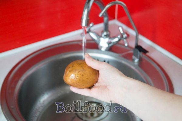 моем картошку