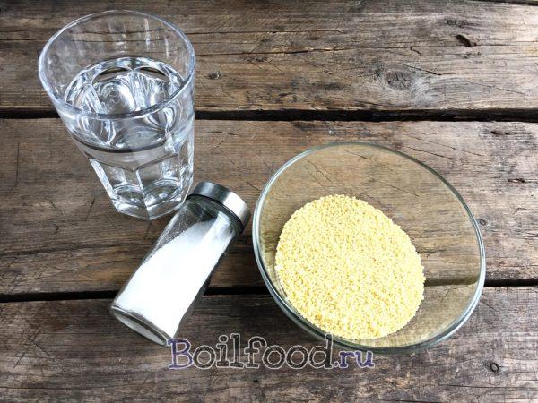 крупа вода соль