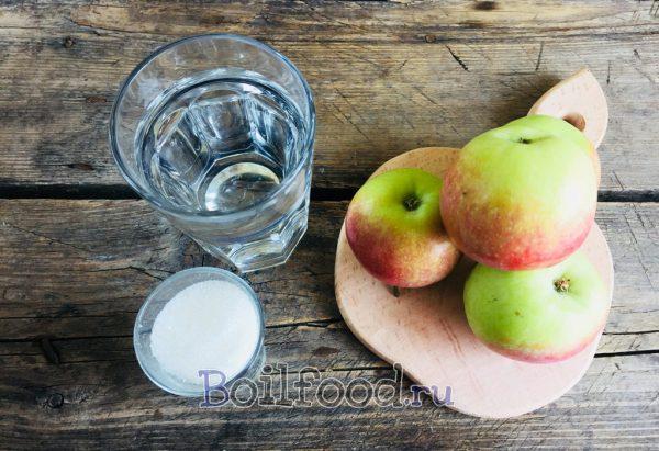 яблоки вода сахар